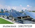 solar and modern city skyline  | Shutterstock . vector #1081797239