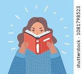 vector cartoon illustration of... | Shutterstock .eps vector #1081798523