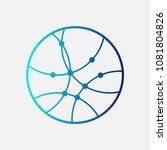 circular globe logo icon. link...   Shutterstock .eps vector #1081804826