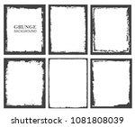 vector grunge frames.grunge... | Shutterstock .eps vector #1081808039