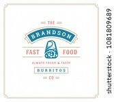 fast food logo vector... | Shutterstock .eps vector #1081809689