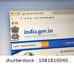 Small photo of Amsterdam, The Netherlands - May 1, 2018: Official internet homepage of The Government of India, often abbreviated as GoI.