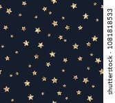 gold glitter stars seamless... | Shutterstock .eps vector #1081818533