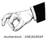 vector artistic pen and ink... | Shutterstock .eps vector #1081818569