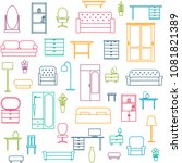 vector seamless pattern... | Shutterstock .eps vector #1081821389