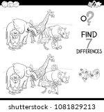 black and white cartoon... | Shutterstock .eps vector #1081829213