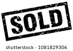 square grunge black sold stamp | Shutterstock .eps vector #1081829306