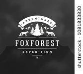 forest camping logo design... | Shutterstock .eps vector #1081833830