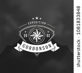 expedition logo design vector... | Shutterstock .eps vector #1081833848