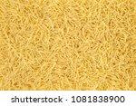 uncooked vermicelli pasta... | Shutterstock . vector #1081838900