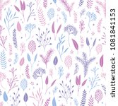 vector hand drawn floral... | Shutterstock .eps vector #1081841153