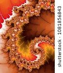orange fractal spiral  digital... | Shutterstock . vector #1081856843
