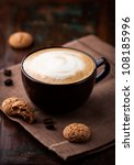 cup of cafe au lait and tasty... | Shutterstock . vector #108185996