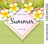 summer sale background vector | Shutterstock .eps vector #1081863230