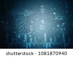 2d illustration health care and ... | Shutterstock . vector #1081870940