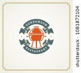 restaurant logo template vector ... | Shutterstock .eps vector #1081872104
