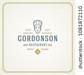 restaurant logo template vector ... | Shutterstock .eps vector #1081872110
