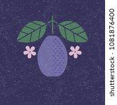 plum illustration. plum with... | Shutterstock .eps vector #1081876400