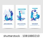 business data analysis  data... | Shutterstock .eps vector #1081880210