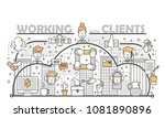 working with clients concept... | Shutterstock . vector #1081890896