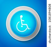 white disabled handicap icon... | Shutterstock .eps vector #1081894808