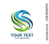 s letter logo icon template.... | Shutterstock .eps vector #1081898090