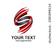s letter logo icon template.... | Shutterstock .eps vector #1081898114