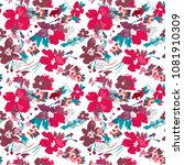 seamless vector pattern of... | Shutterstock .eps vector #1081910309