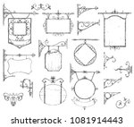 vector hand drawn collection of ... | Shutterstock .eps vector #1081914443