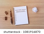 2019 new year's resolutions on... | Shutterstock . vector #1081916870