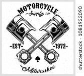 cross motorcycle piston black... | Shutterstock .eps vector #1081922090
