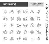 30 thin line icons associated...   Shutterstock .eps vector #1081922516