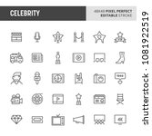 30 thin line icons associated... | Shutterstock .eps vector #1081922519