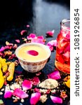 ayurvedic face pack to reduce... | Shutterstock . vector #1081926854