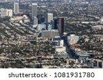 aerial view of wilshire blvd... | Shutterstock . vector #1081931780