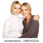 closeup portrait of two women...   Shutterstock . vector #108193223