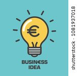 icon shining light bulb with... | Shutterstock .eps vector #1081937018