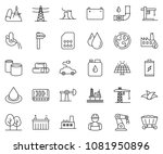 thin line icon set   offshore... | Shutterstock .eps vector #1081950896