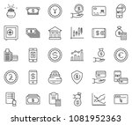 thin line icon set   cash... | Shutterstock .eps vector #1081952363