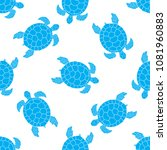 seamless pattern with sea... | Shutterstock .eps vector #1081960883