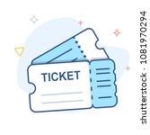 ticket vector line icon   Shutterstock .eps vector #1081970294