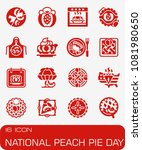 vector national peach pie day... | Shutterstock .eps vector #1081980650