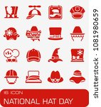 vector national hat day icon set | Shutterstock .eps vector #1081980659