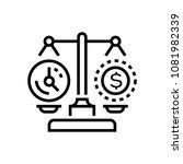 time vs money   line design... | Shutterstock .eps vector #1081982339