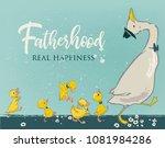 family of cute farm birds | Shutterstock .eps vector #1081984286