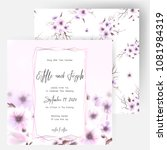 save the date card  wedding... | Shutterstock .eps vector #1081984319