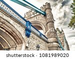 majesty of tower bridge in... | Shutterstock . vector #1081989020