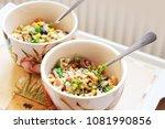 vegetable and tuna salad bowls...