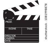 a director's clapper board... | Shutterstock .eps vector #1081998878