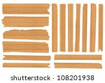 wood plank  isolated on white... | Shutterstock . vector #108201938